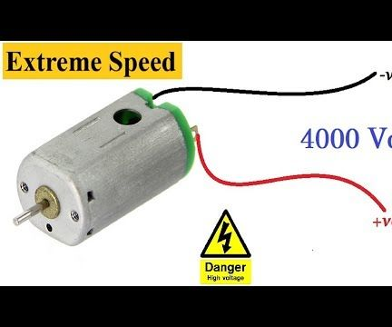 Wooow!!! 3V DC MOTOR Forced at 4000V | Awesome Idea New DIY