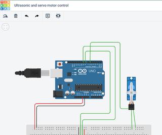 Controlling a Servo With an Ultrasonic Sensor Using Arduino