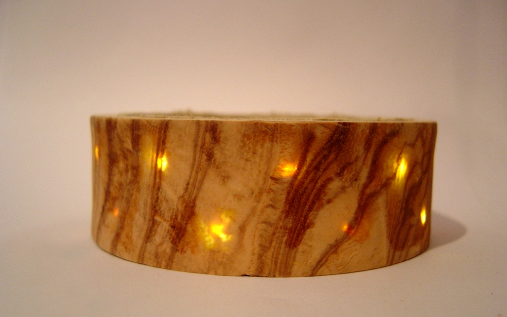 Wood Veneer Bracelet with LED Backlighting
