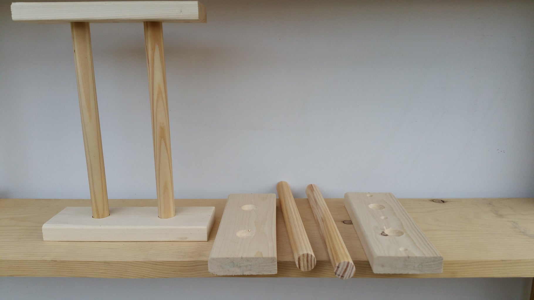Cutting Out the Wooden Shelf Supports Pieces