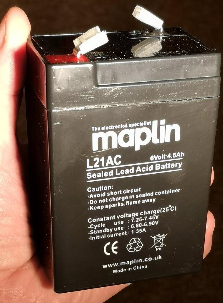 Battery: Sealed Lead-acid Gel Cell
