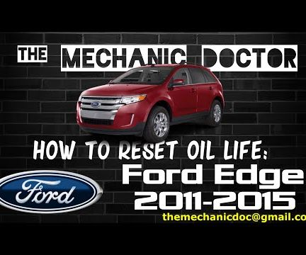 How to Reset Oil Life: Ford Edge 2011-2015