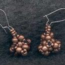 Stellated tetrahedron earrings