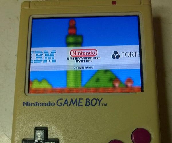 Gameboy LCD+Raspi Upgrade