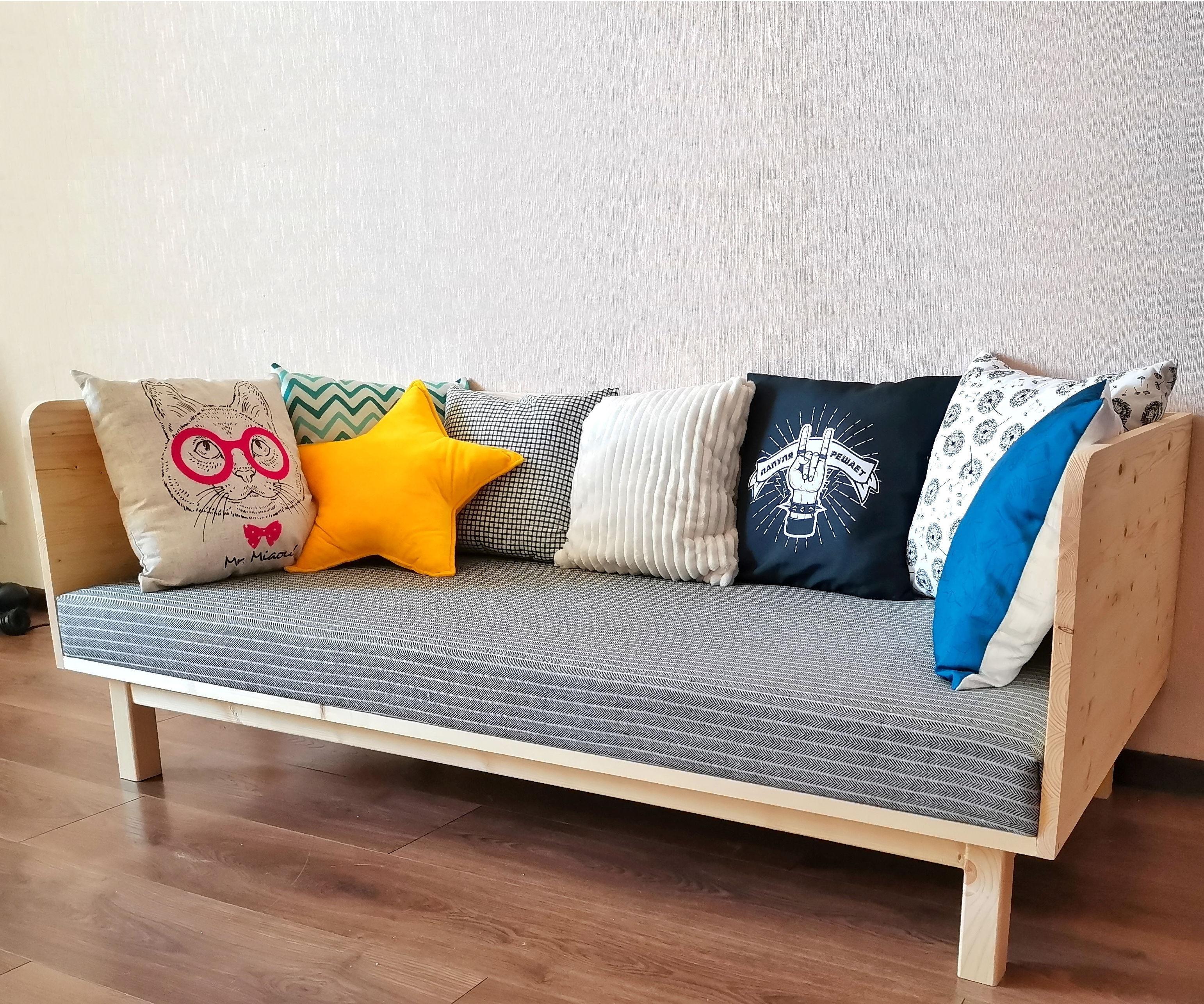 Small and Cute, HomeMade Modern DIY Sofa | Minimum Tools