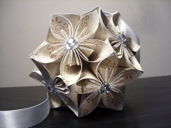 How to Make an Origami Kasudama Flower Ball (blossoms)!