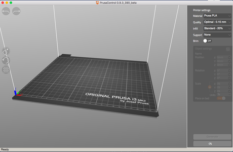 Edit and Check File in Prusa Software
