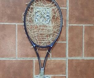 回收网球拍渔网