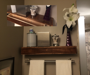 Small Floating Shelf With Hidden Storage
