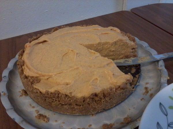 Easy No Bake Pumpkin Cheesecake!