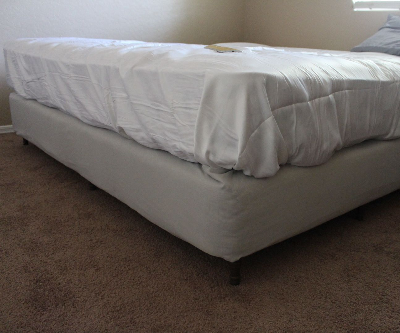 Platform Bed From Box Springs Diy California King Edition 11 Steps Instructables