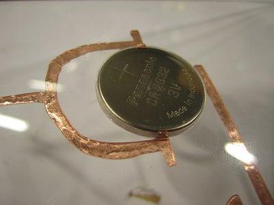 Vinylcut Copper, Lasercut Hole, Pressfit