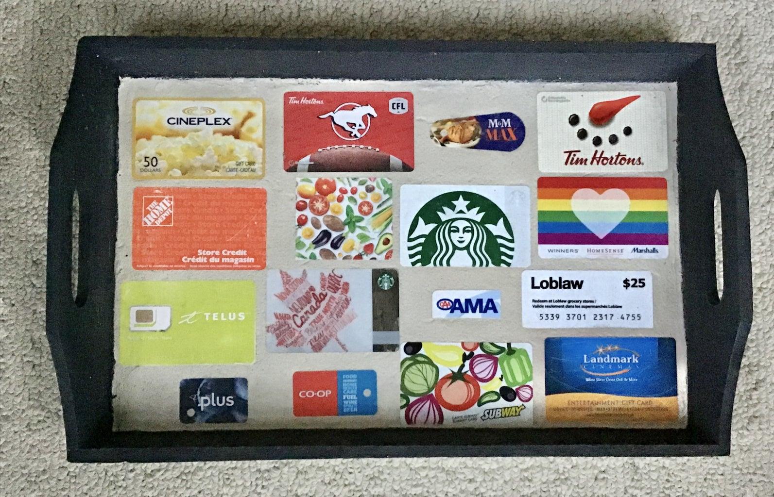 Gift Card Coffee Tray