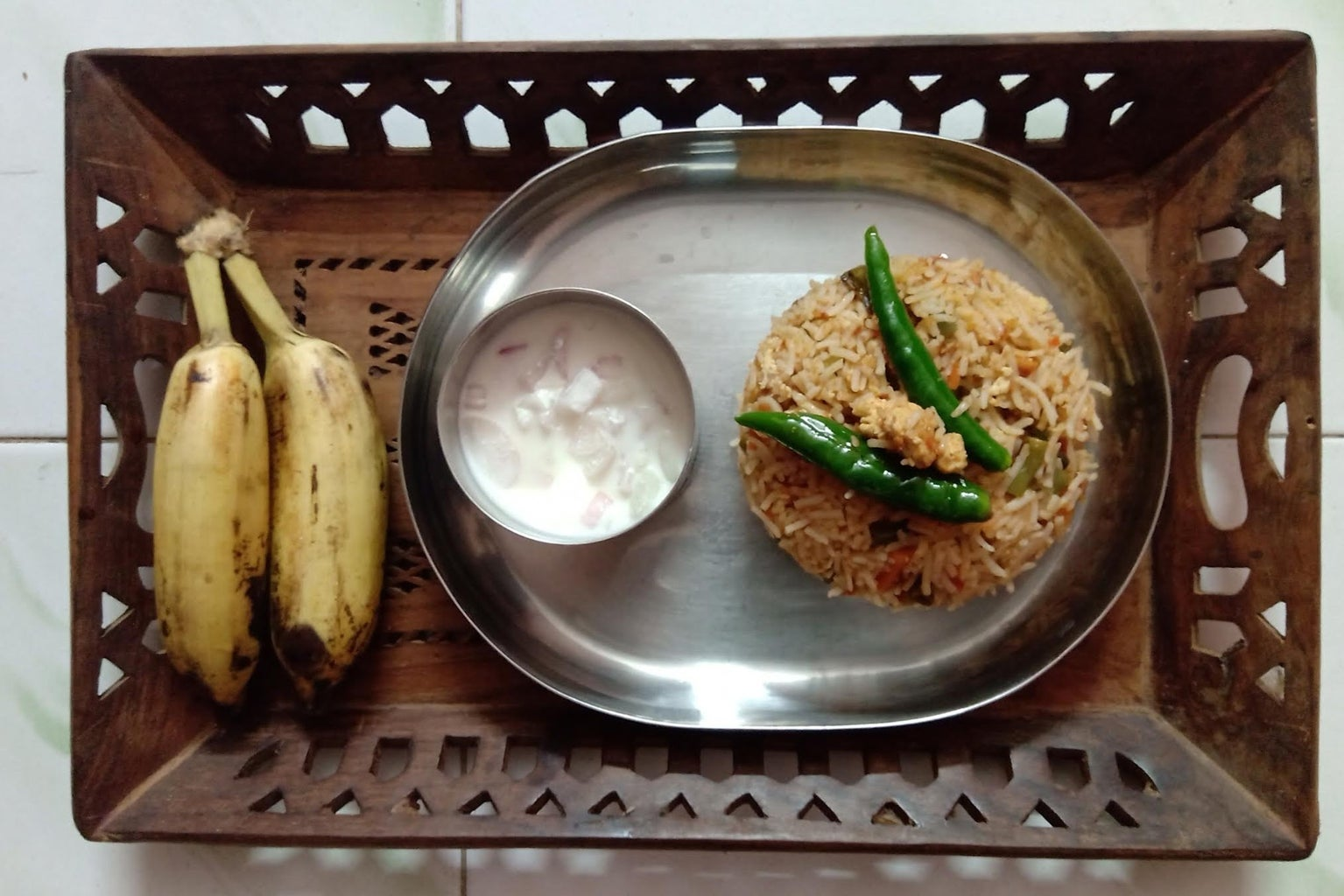 Photo Shoot, in a Traditional Way of South-Indian Meal Serving :-)