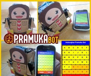 Pramuka-Bot: Morse & Semaphore Robot (Arduino Bluetooth Controlled)