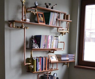 Upcycled Industrial Shelf, Easy