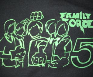 Stenciled T-shirts