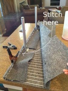 Upholster the Shelf - Sew on the Carpet