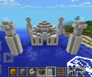 Minecraft- TAJ MAHAL Floating