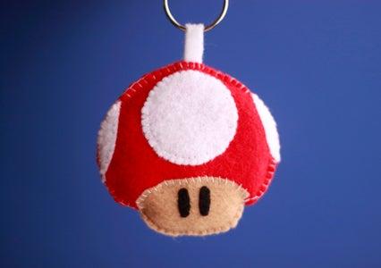 How to Make a Mario Mushroom Keychain