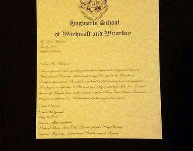 Make Your Own Hogwarts Acceptance Letter