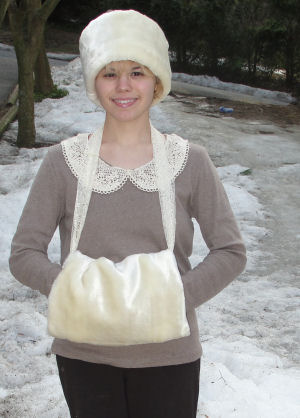 Sew a Faux Fur Lined Muff and Hat