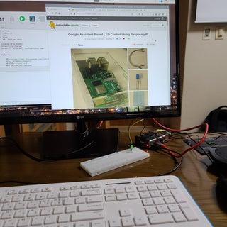 Google Assistant Based LED Control Using Raspberry Pi