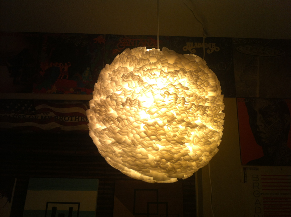 DIY Coffee Filter Pendant Light