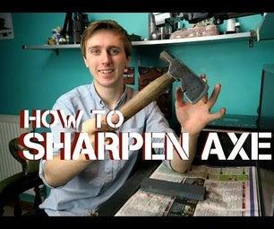 How to Sharpen an Axe Using a Whetstone   Tips & Tricks