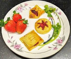 Pineapple Choco Mini Pie and Strawberry Tarts