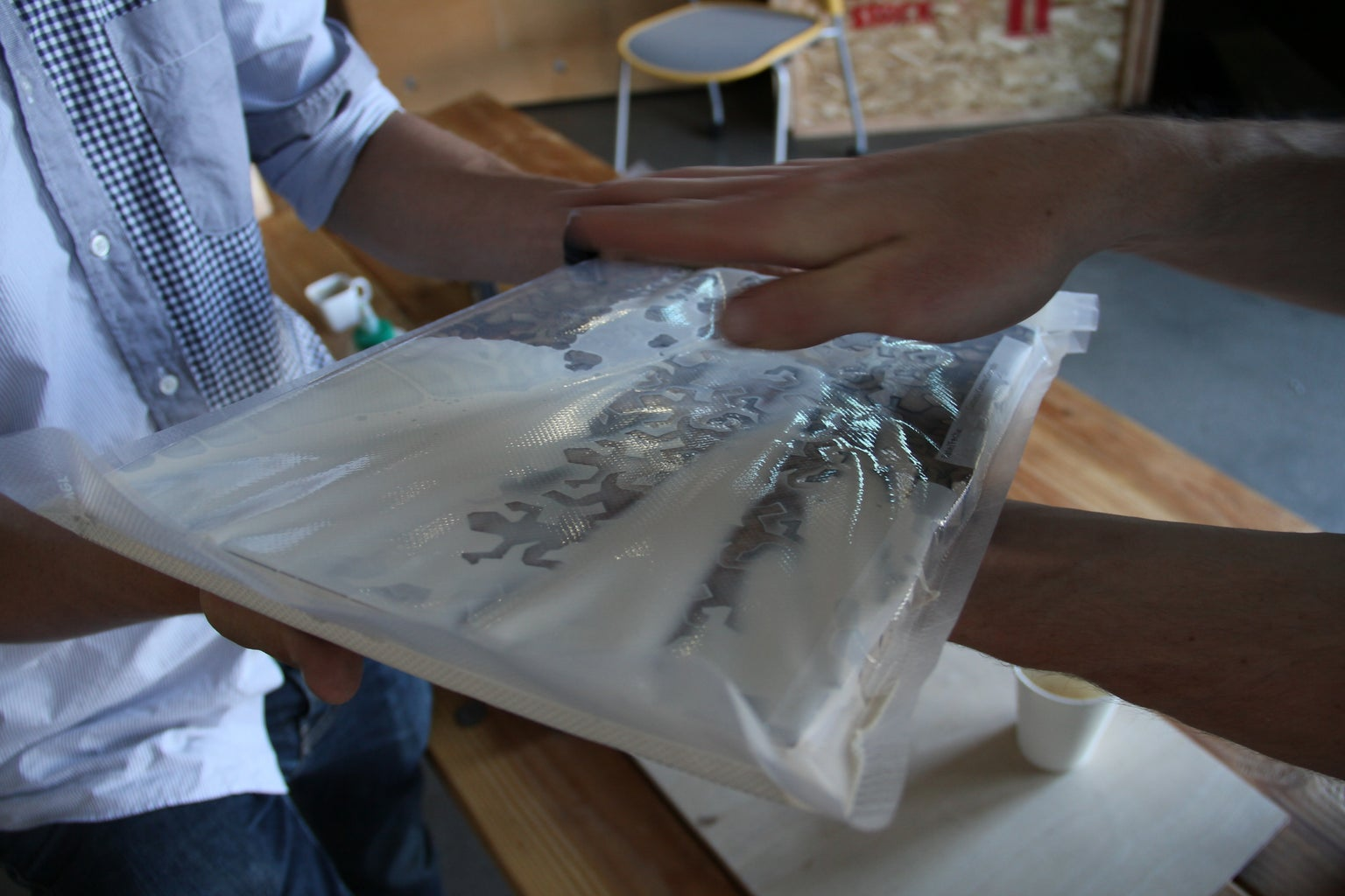 Filling the Cracks With a FoodSaver Vacuum Bag