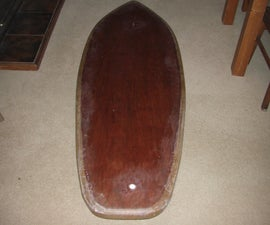 My 6,4 Hollow Wooden Surfboard