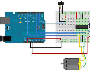 Connect dc motor with arduino and control in left and right