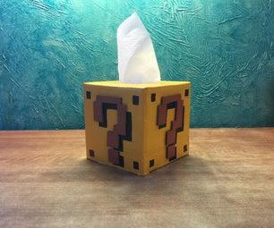 Mario Question Block Tissue Box