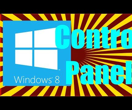 How to Find the Control Panel in Windows 8