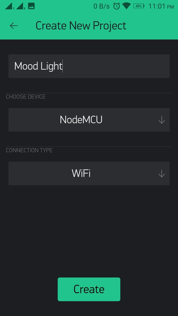 BLYNK App Setup on Phone