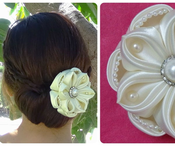 Diy Satin Flower, Wedding Hair Accessoire