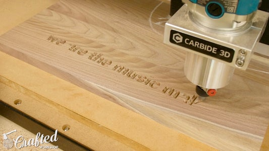 (Optional) Engrave Quote Onto Guitar Stand Using CNC Router