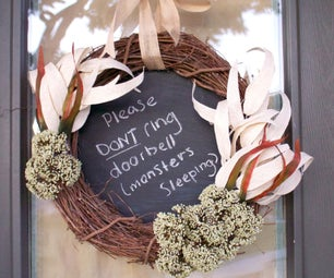 Chalkboard Memo Wreath