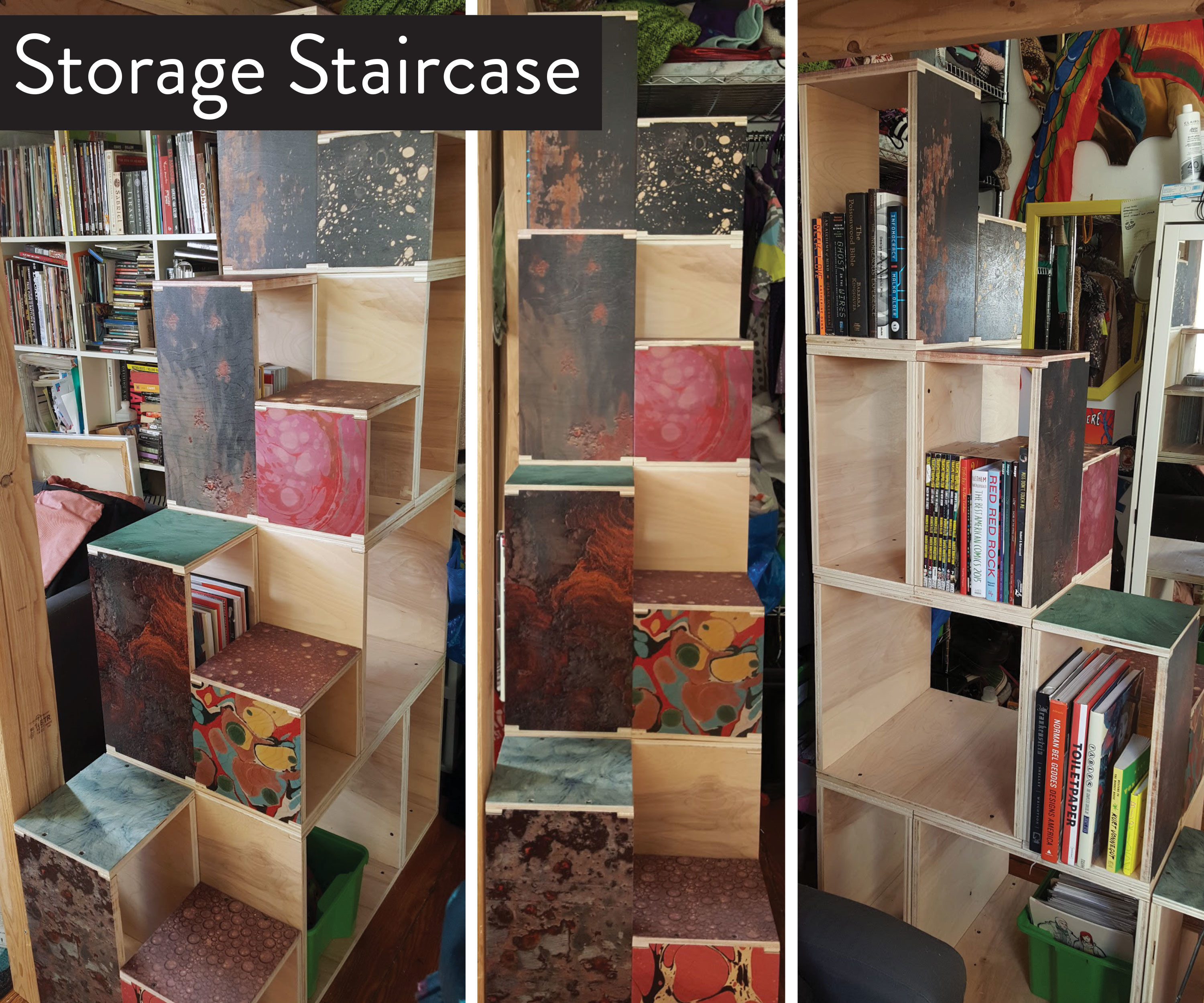 Image of: Storage Staircase For Loft Bed 4 Steps With Pictures Instructables