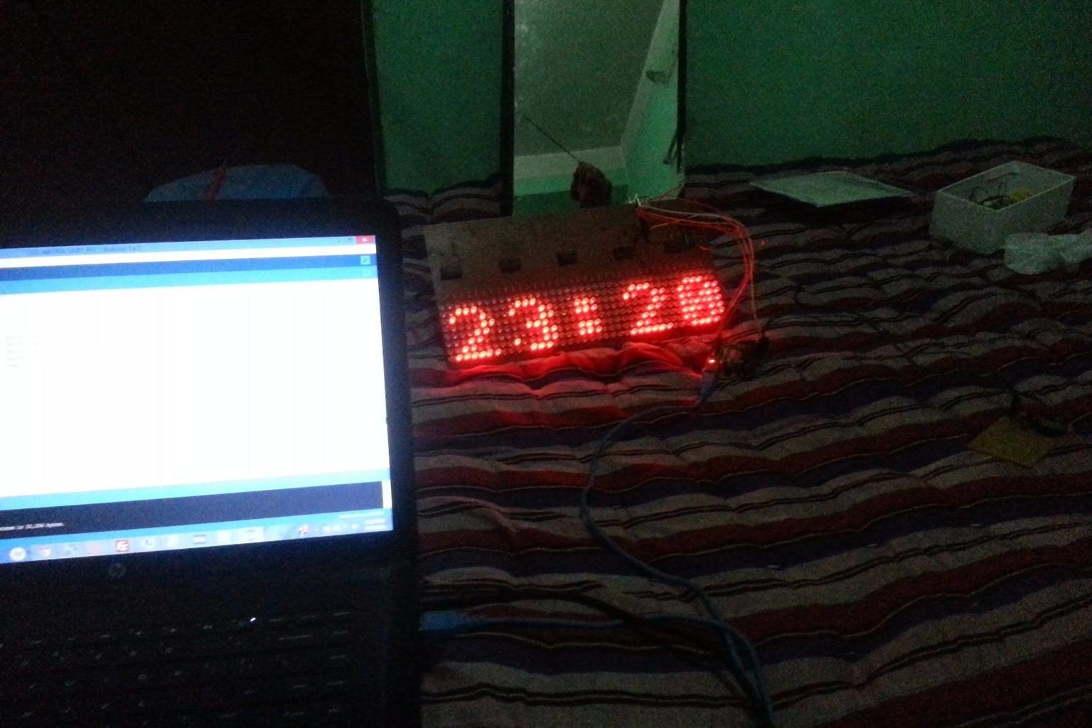 8X40 LED MATRIX CALENDAR CLOCK WITH REMOTE