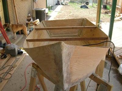 More Fiberglass and Sanding.