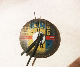 Shop-style Wall Clock