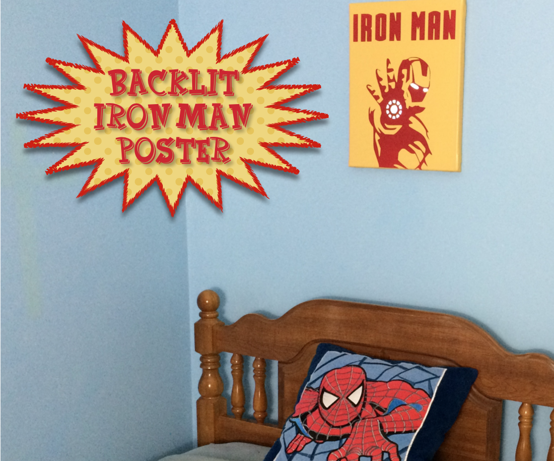 Backlit Iron Man Poster
