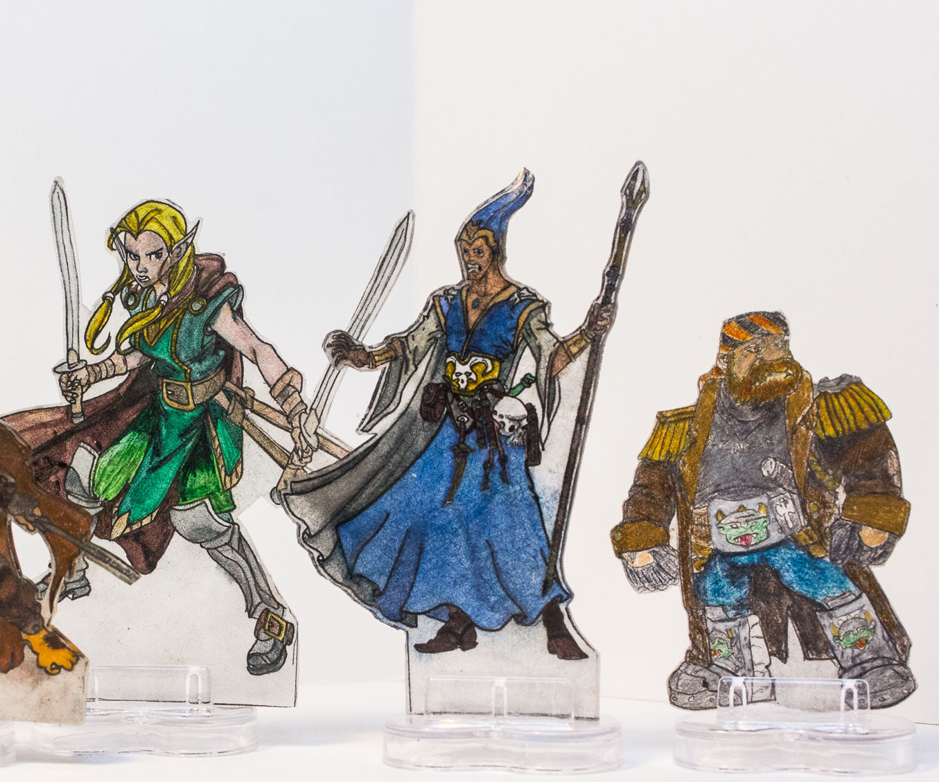 Shrinky Dink D&D miniatures