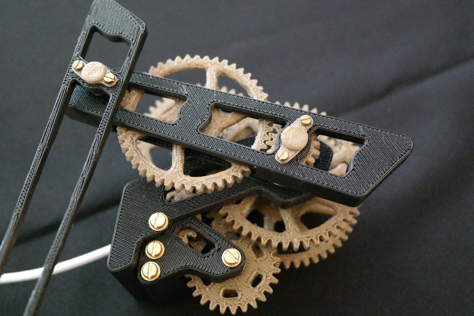 Hand in Hand Skeleton Clock