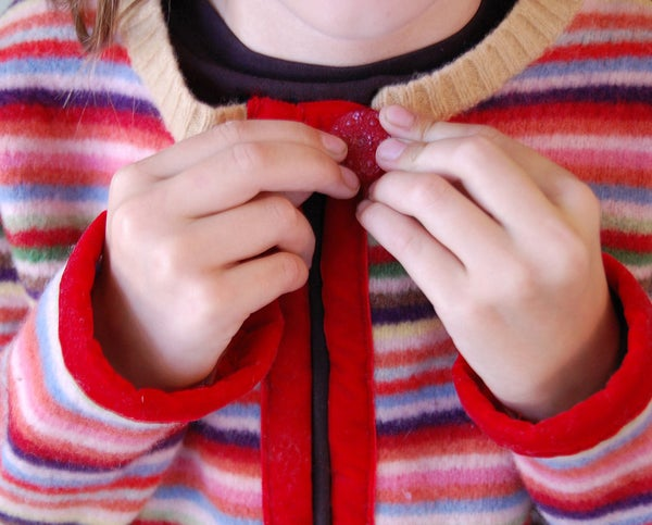 Make a Childs Cardigan From Recycled Felted Wool Sweater!