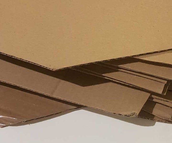 Cardboard Cuttings Upcycling --> New Material for Your Projects
