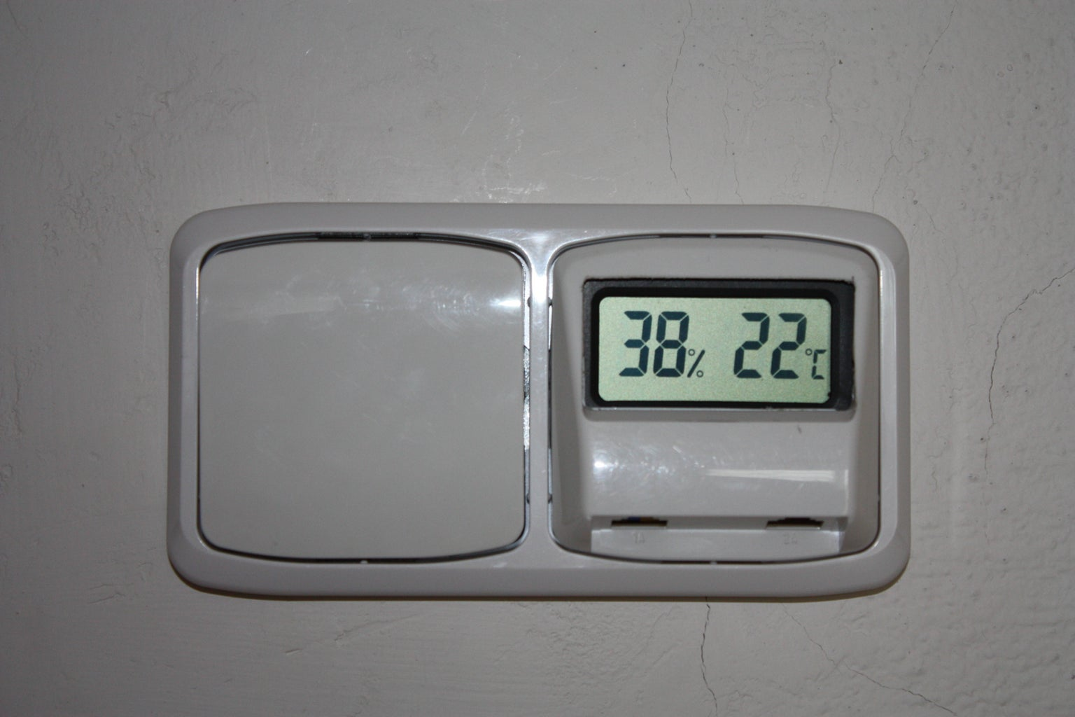 Thermometer in Wall Light Switch