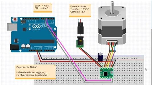 Diagrama De Conexión De Motor Nema17 Al Arduino